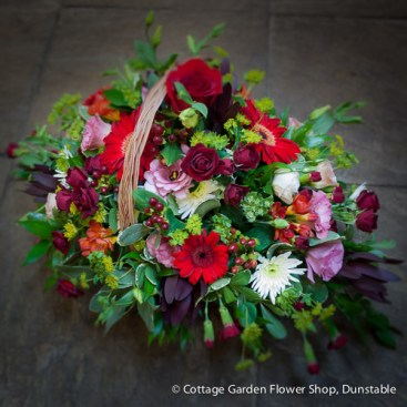 Pink & Red Sympathy Basket