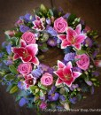 Rose & Lily Wreath Pink & Lilac