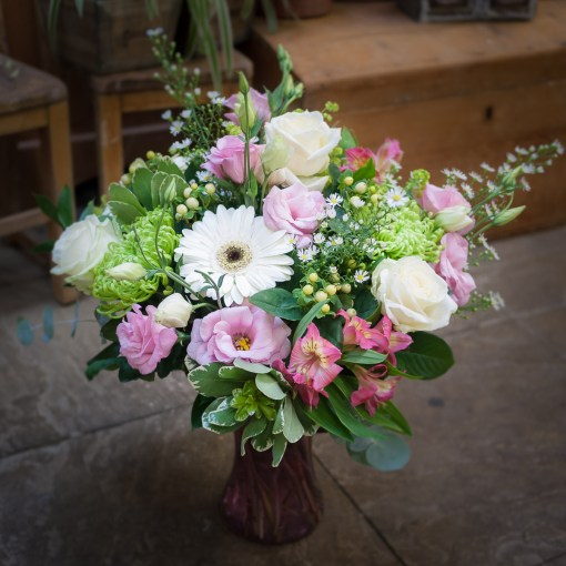 Pink & White Vase