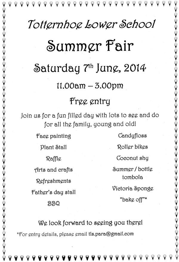 Totternhoe Lower School Summer Fair