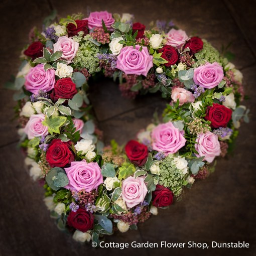 Red & Pink Rose Heart