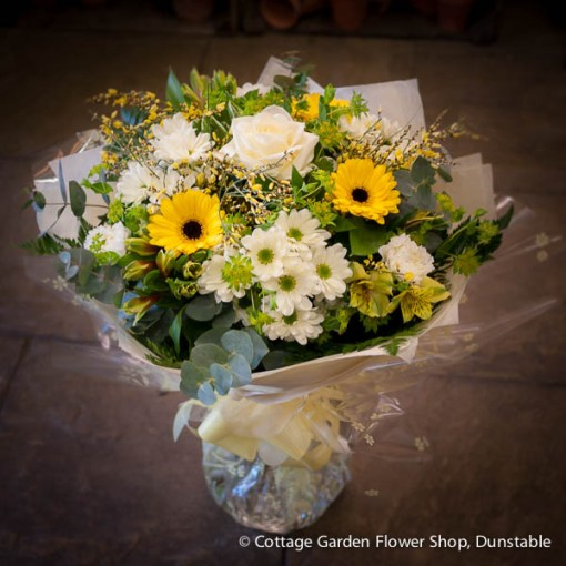 Yellow & White Hand Tied