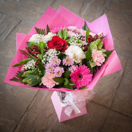 Pink, Red & White Hand Tied