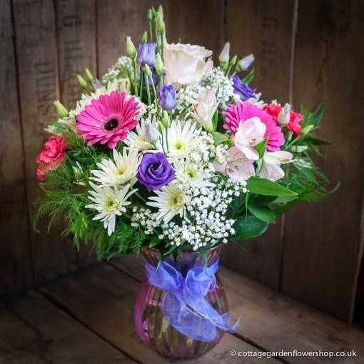 Pink, Blue & White Vase
