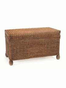 cottage wicker trunk custom furniture