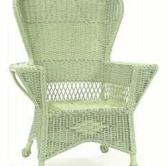 Wicker Wingback Chairs Used Captain For Boats Sonoma Chair Cottage Home