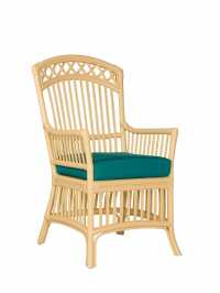 Castine Wicker Dining Arm Chair   Cottage Home