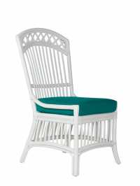 Castine Wicker Dining Side Chair   Cottage Home