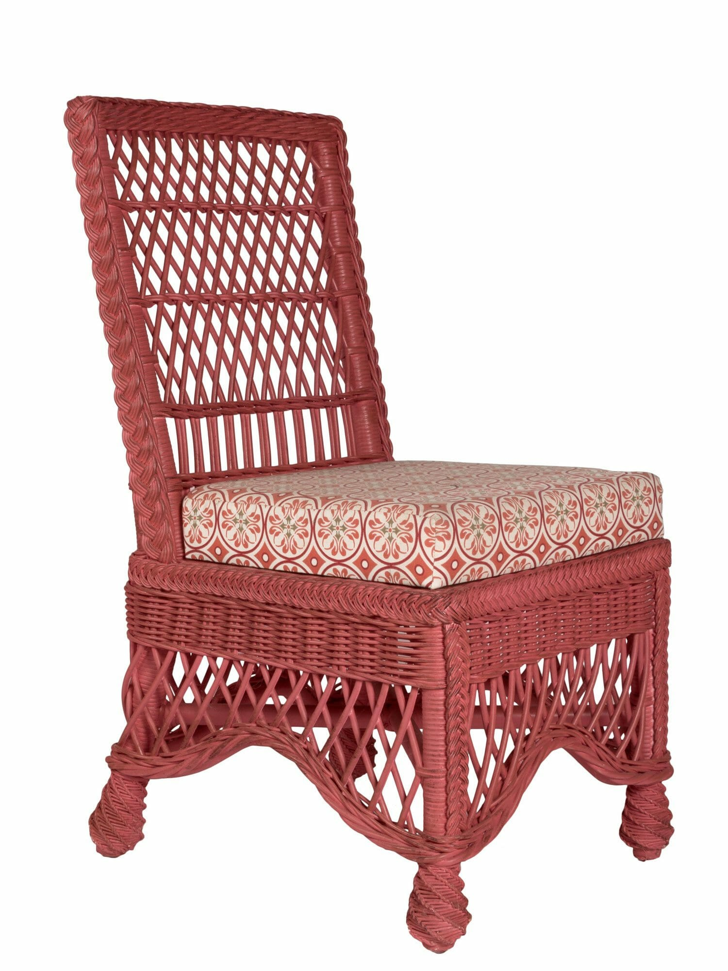 Wicker Side Chair Easton Wicker Dining Side Chair Cottage Home
