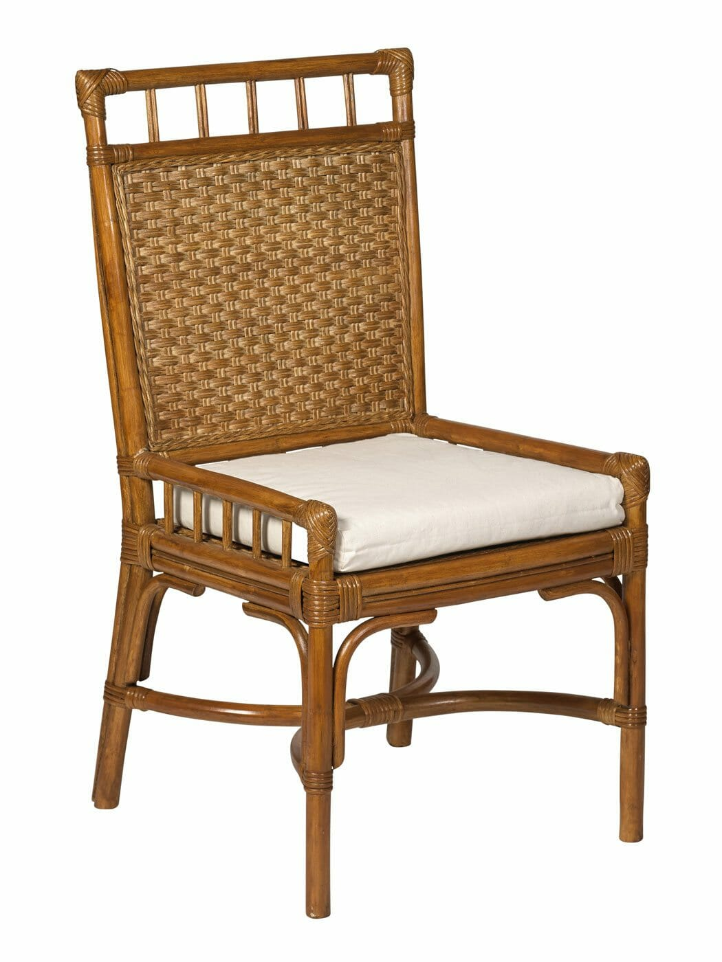 Cottage Wicker Rattan Desk Chair  Cottage Home