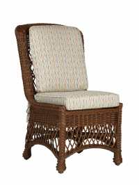 Cape Charles Wicker Dining Side Chair   Cottage Home