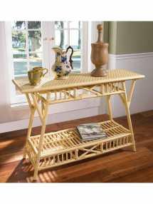 castine wicker sofa table custom