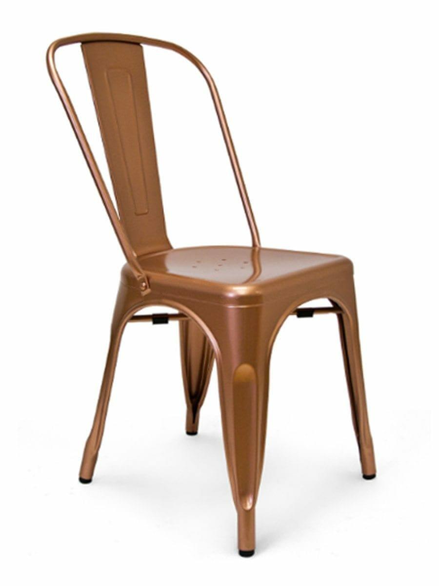 Metal Bistro Chair Copper