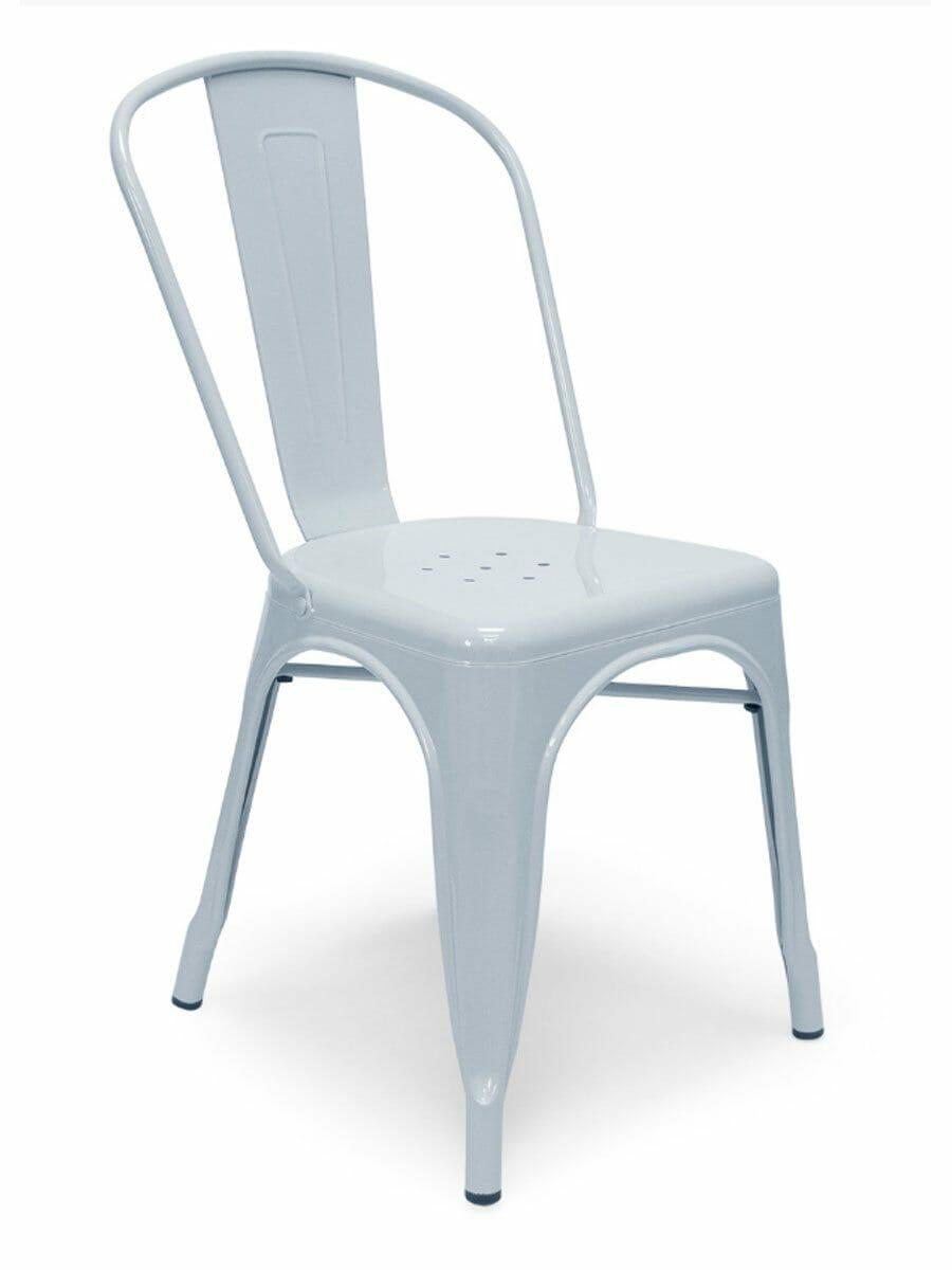 Metal Bistro Chair Light Blue