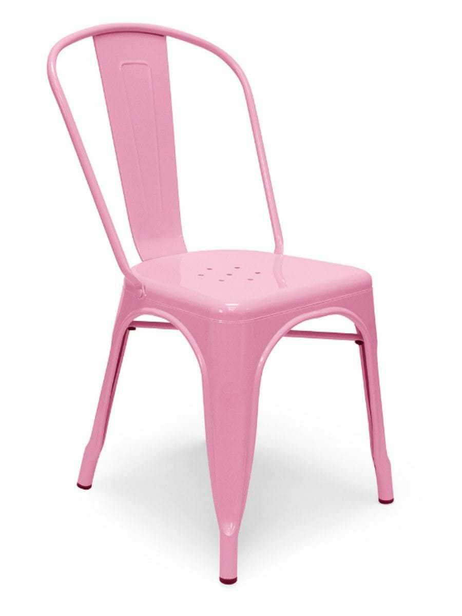 Metal Bistro Chair Pink  Cottage Home