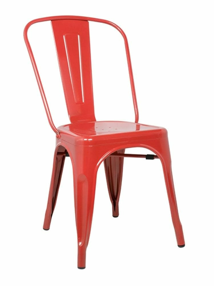 Metal Bistro Chair Red  Cottage Home