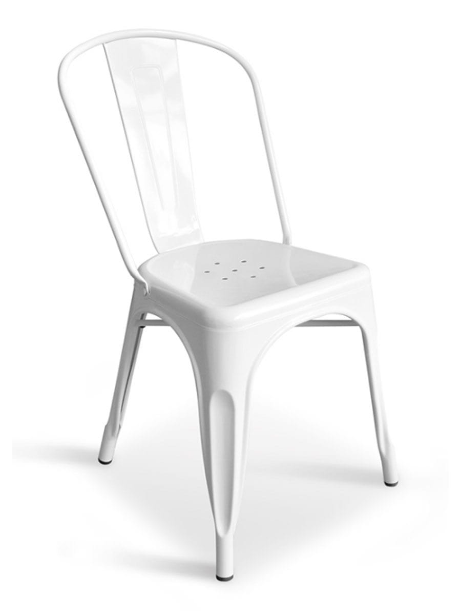Metal Bistro Chair White  Cottage Home