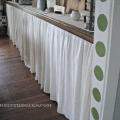 We also use curtains on our bookcases in the living room made from