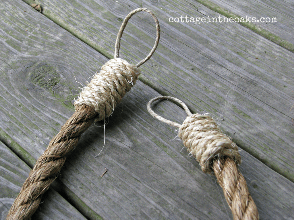 Rope Curtain Tie Backs Cottage In The Oaks