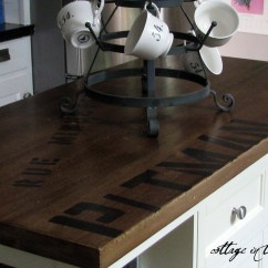 Distressed Kitchen Island Butcher Block Vintage Tables Antiqued From The Archives