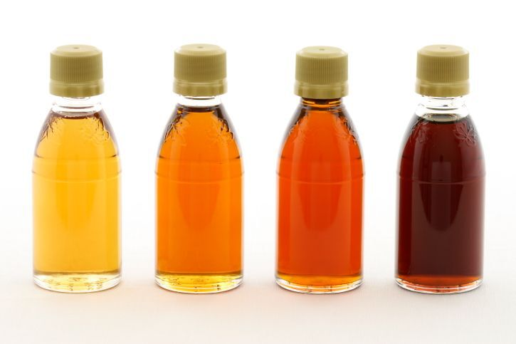 What determines the different grades of maple syrup