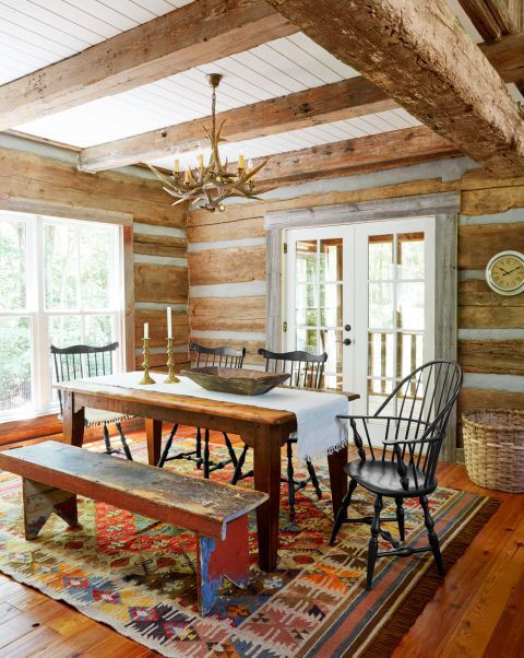 what kind of fabric for dining room chairs human touch massage this newly designed log cabin looks like an authentic part history | cottage life