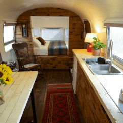 Refurbished Kitchen Table Painting Cupboards An Airstream Trailer Is Transformed Into A Tiny, Retro ...