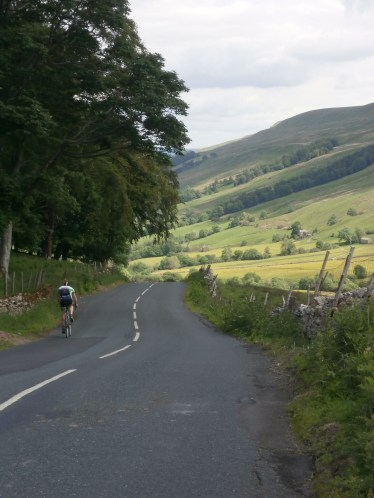 Cycling down Bishopdale
