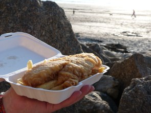 A taste of nostalgia – enjoy fish and chips eaten from newspaper on the promenade