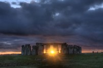 Iconic Stonehenge in Wiltshire is also spectacular at this time of year and on 22nd December visitors gather to watch the sunrise on the Winter Solstice over the stones.