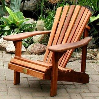 Wood Adirondack Chairs & Tables
