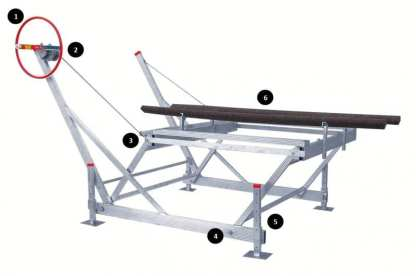 Lakeshore Products 1264 Cantilever Lift Numbered