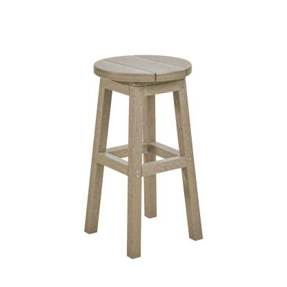 Recycled Plastic Counter Stool - Brown