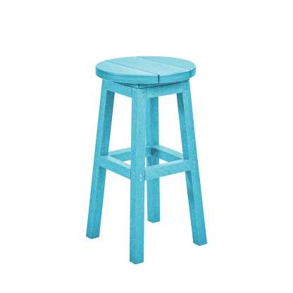 Recycled Plastic Counter Stool - Light Blue