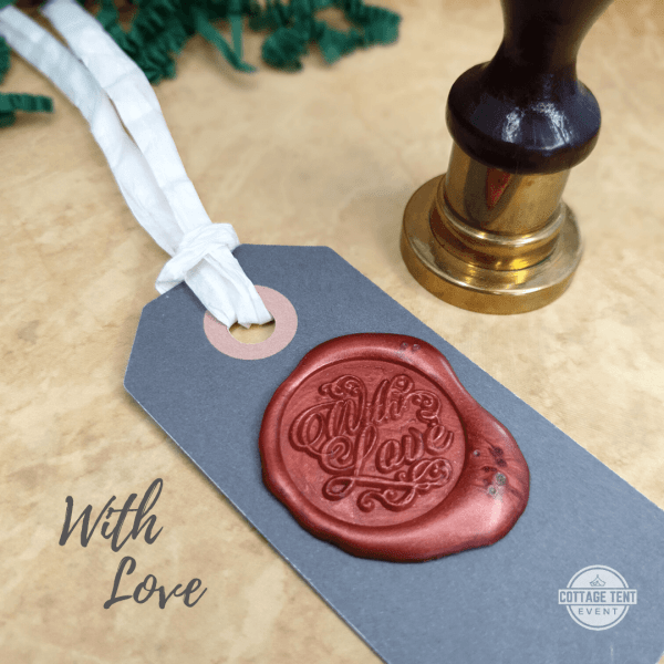 Wax Seal - with love tag