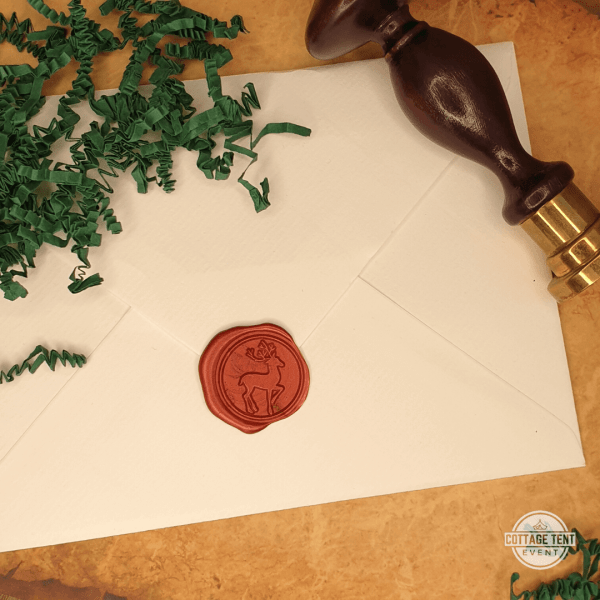 Wax Seal - deer envelope