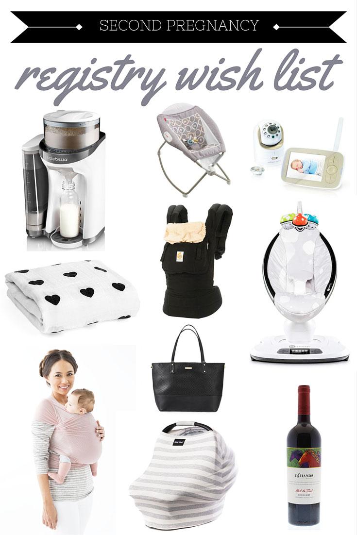 second pregnancy wish list