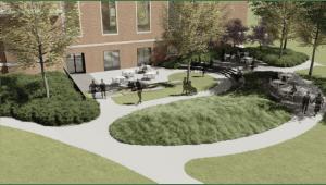 West Terrace, featuring multi-level patios