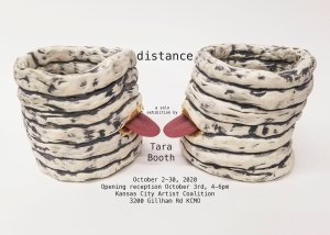 Flyer for the solo exhibition by Tara Booth