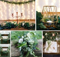 Natural Green Wedding Theme Ideas