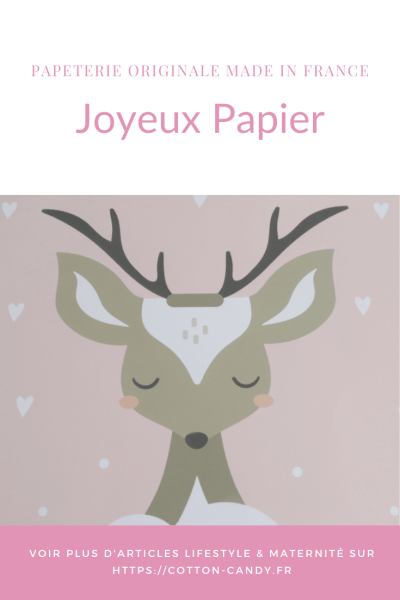 PINTEREST Joyeux Papier - papeterie de qualité - COTTOON CANDY blog lifestyle lecture et maternité