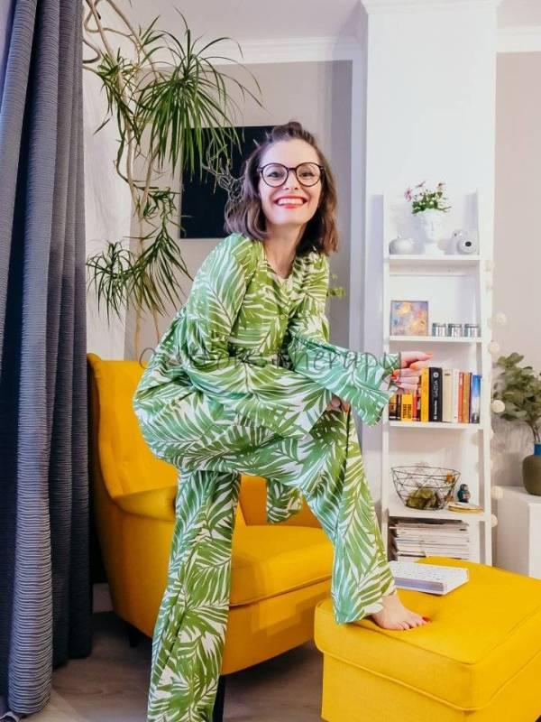 pijama vaporoasa din vâscoză imprimată