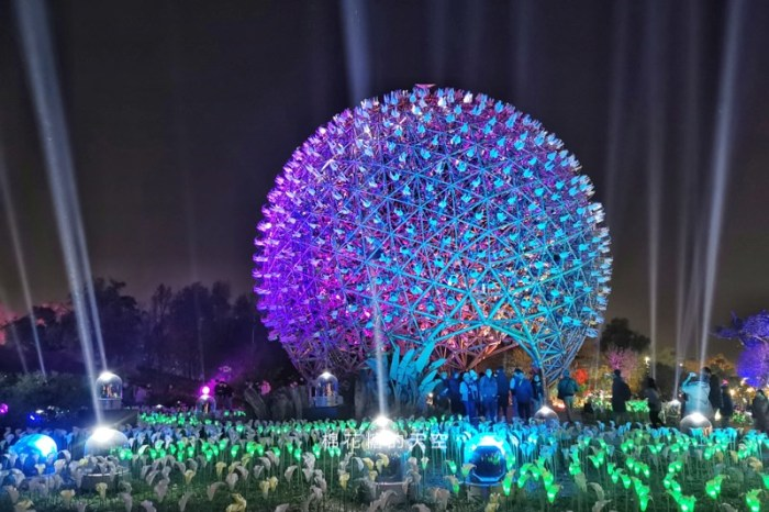 台灣燈會在台中~后里森林園區三大必看表演,無人機這裡拍超美