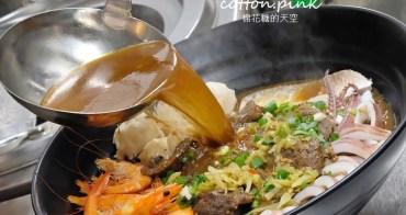 台中最狂牛肉麵就是這一家!超大碗公迦南海陸牛肉麵~大塊牛肉外加鮮蚵還有整片虱目魚