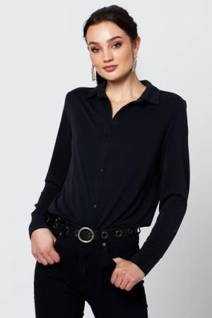 Rut & Circle Mia modal shirt RUT-20-03-83 black (1)