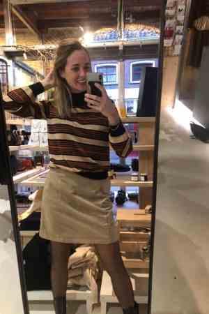 NA-KD A-Line suède skirt