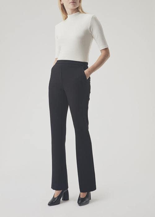Modström - Tanny flare pants black 53590 (1)