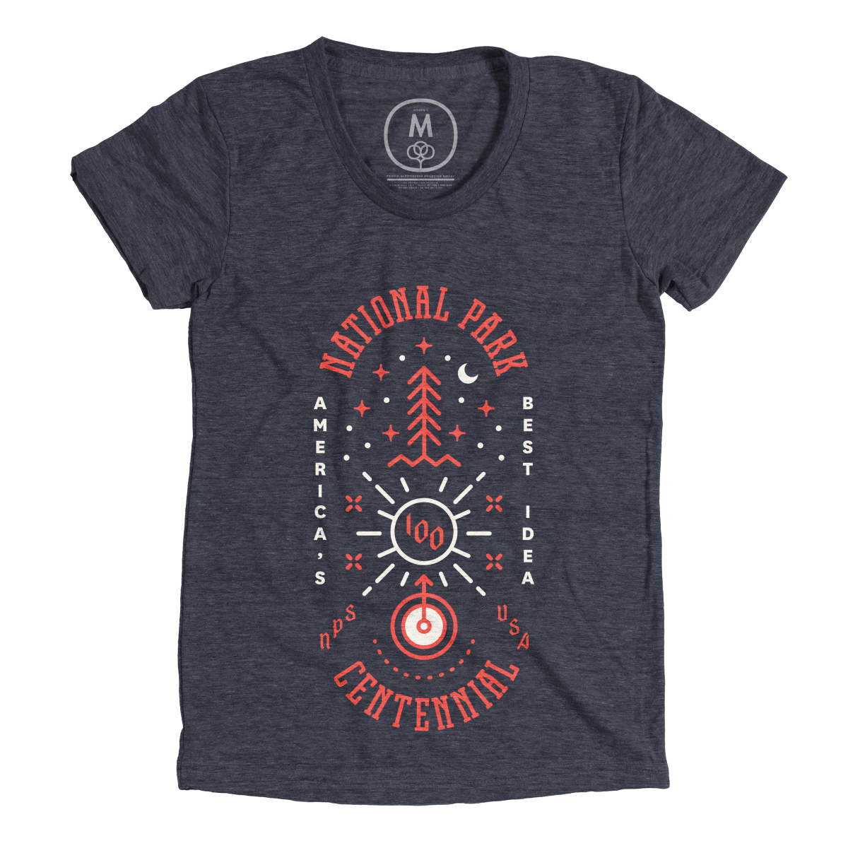 """""""NPS 100"""" graphic tee and pullover crewneck by Type Hike. 