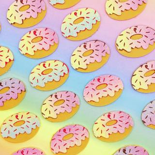 🍩 Pastel ombré doughnuts! 🍩   How pretty and summery are these faux leather doughnuts?! 🤤   Like I said with the pineapples from yesterday, I've been working on stock for some upcoming markets but couldn't resist trying out some new colours. These were made with an ombré pastel rainbow sheet and I love how they turned out!  I love when experimenting pays off 🌈   Did you know that all my items are fully customisable? if you love any of my items but want them in a different colour, I'm happy to work with you to find the colour you want. I love making bespoke items as well, just get in touch 💖  . . . . . . . .  #Handmade #handmadebusiness #handmadeisbetter #handmadelove #makersgonnamake #makersofinstagram #shopsmallbusiness #craftsposure #coloraddict #colorfullife #colormehappy #ihavethisthingwithcolor #crafttherainbow #ilovecolor #livecolorfully #handmadejewelry #shopsmall #shoplocal #smallbusiness #cuteearrings #earringswag #brightoncraft #veganjewelry #indieroller #btnetsy #summerjewellery #festivaljewellery #foodjewellery #doughnuts #veganjewellery