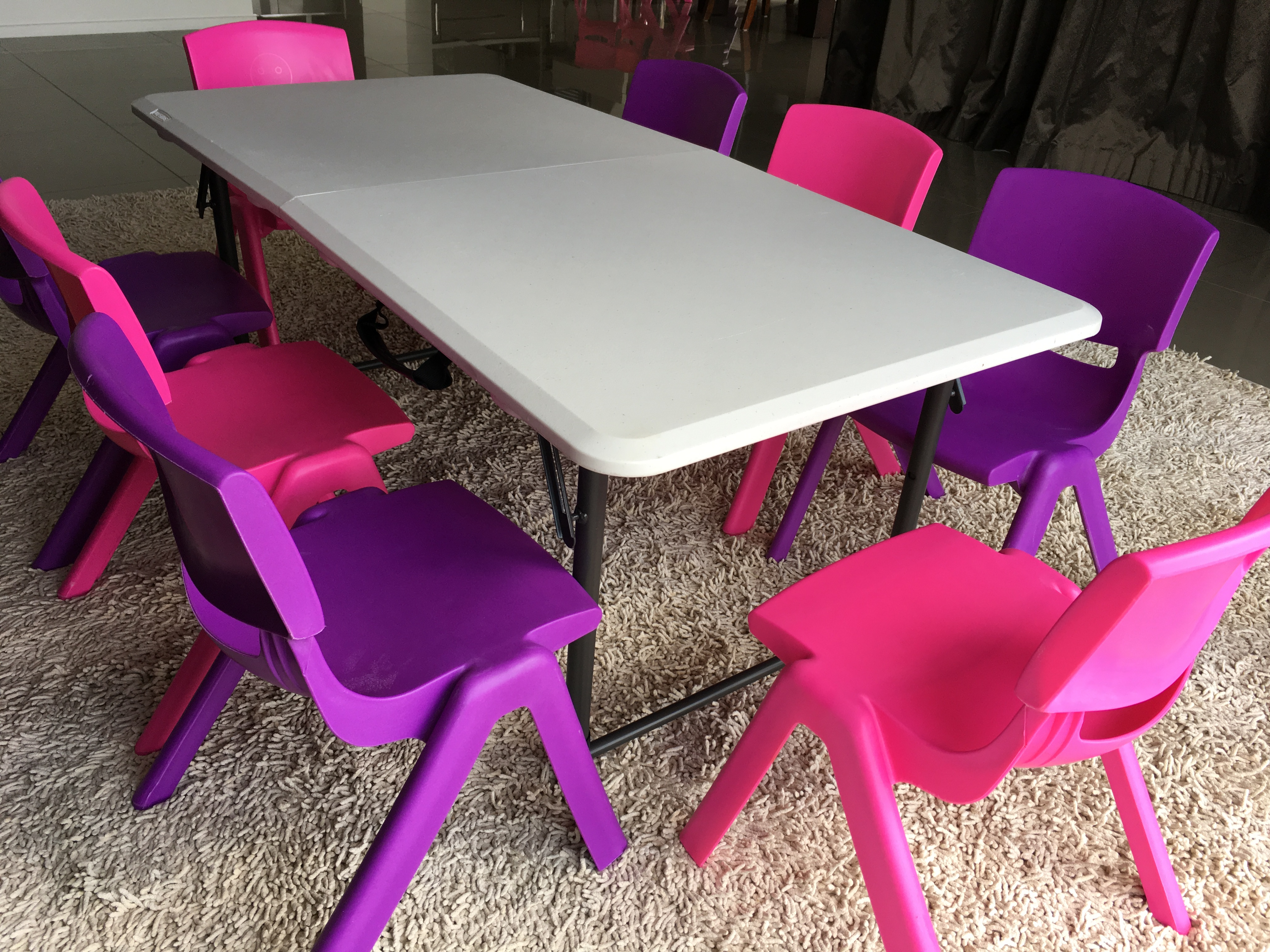 Kids Tables  Chairs  JMK party hire